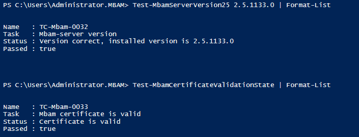 Testing MBAM status with PowerShell