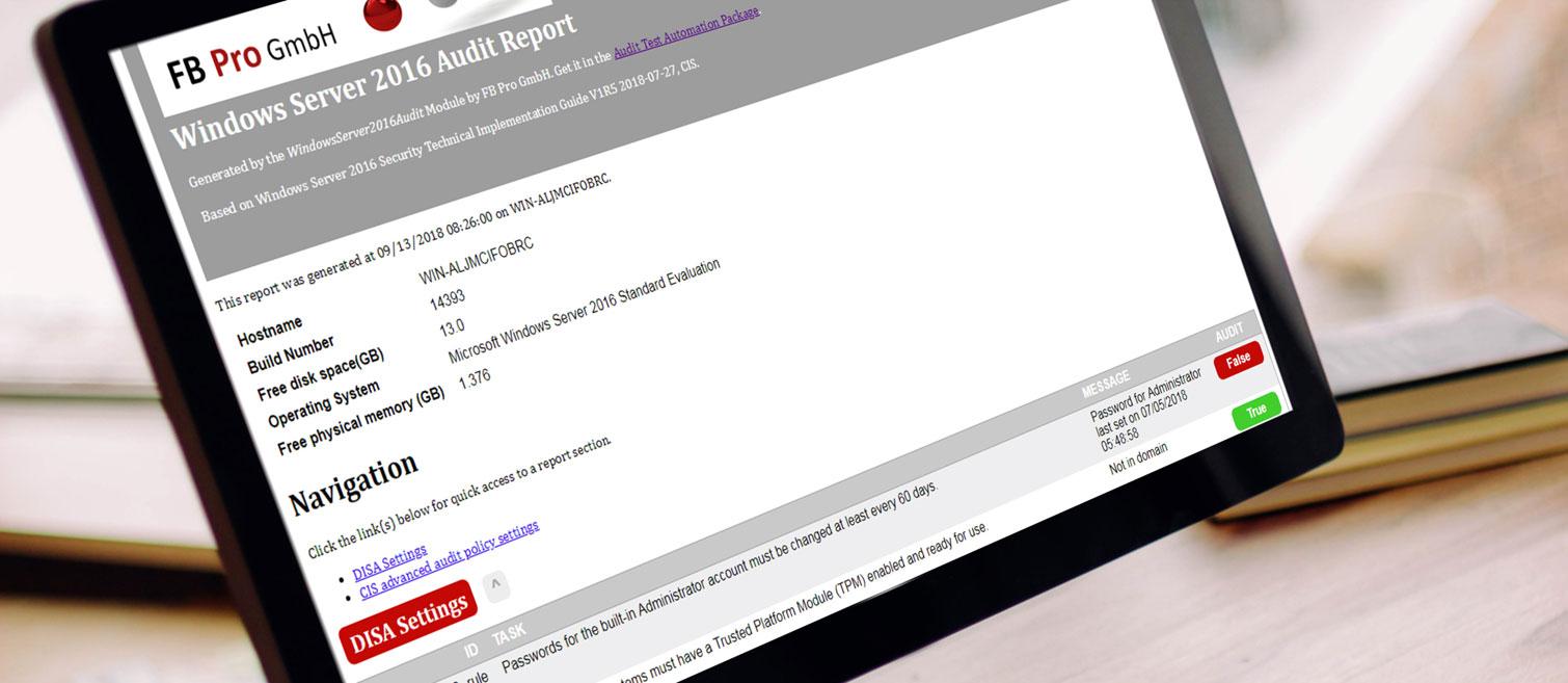 Audit TAP Report (Bild: FB Pro Gmbh / Mockdrop.io)