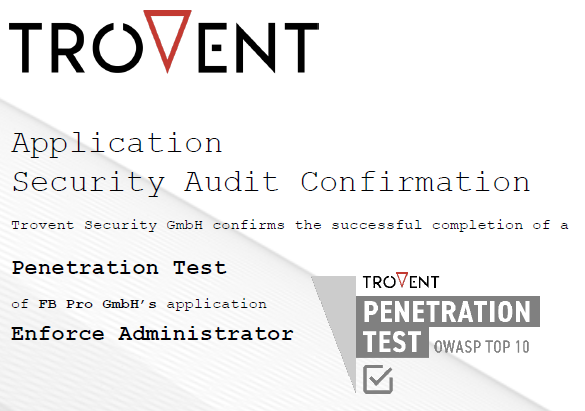 Trovent Application Security Audit Configuration